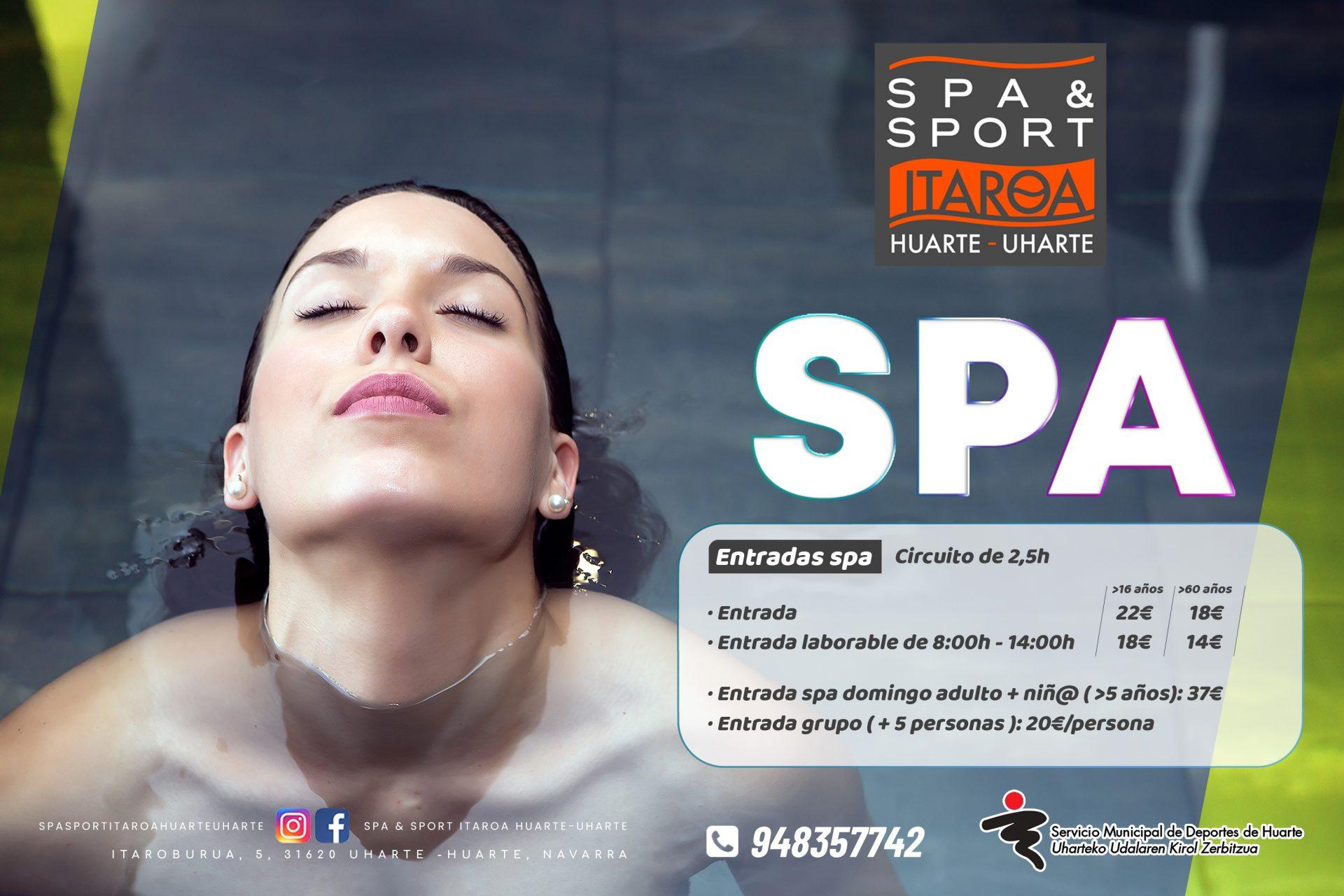 Spa&sport Itaroa Huarte spa promoción 1