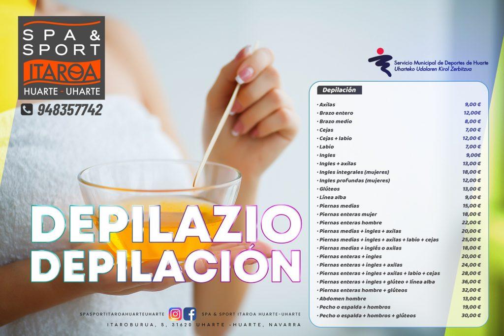 Spa&sport Itaroa Huarte Depilación